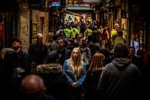 Crowd 1 in 20 suffer pain Fibromyalgia