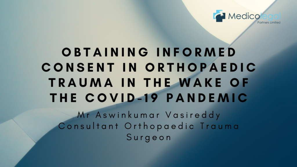 Image with article title obtaining informed consent in orthopaedic trauma in the wake of COVID-19 pandemic